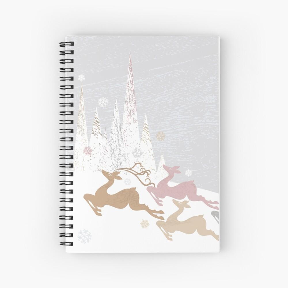 Winter Deer Spiral Notebook