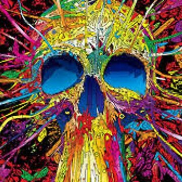 Colorful Skull by jaxhunt