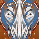 blue boar totem. by resonanteye
