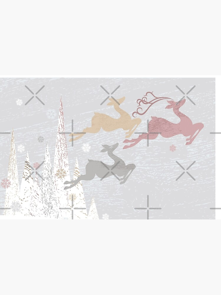 Flying Christmas Deer by rusanovska
