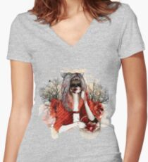 My Little Red Riding Hood.... Women's Fitted V-Neck T-Shirt