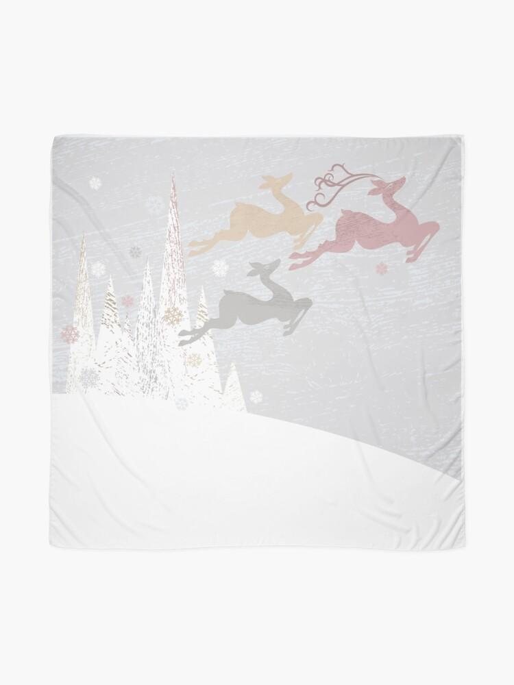 Alternate view of Flying Christmas Deer Scarf
