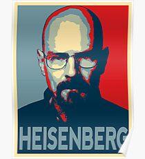 Obamized Mr Heisenberg (Red) Poster