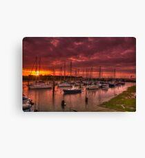 River Yar Sunset Canvas Print