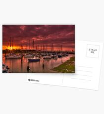River Yar Sunset Postcards