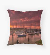River Yar Sunset Throw Pillow
