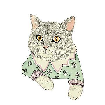 Suéter gato de Canyounotqueenb