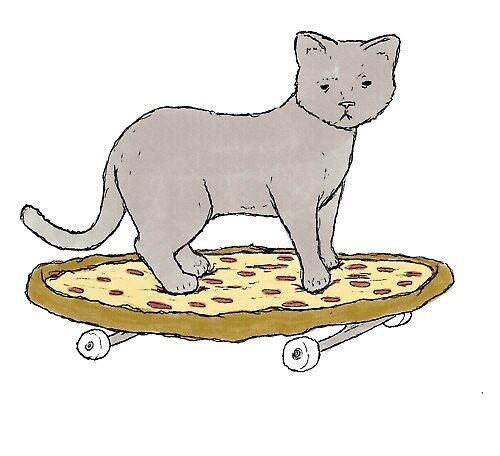 «Gato de pizza» de Canyounotqueenb