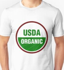 United States Department Of Agriculture Organic Certificate Slim Fit T-Shirt