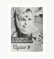 Retro Vintage Cigarette Advertisement Art Print