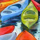 Green Kayak by Lora Garcelon