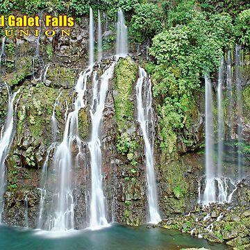 Grand Galet Falls  Reunion island by leksele
