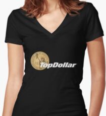 TopDollar Women's Fitted V-Neck T-Shirt