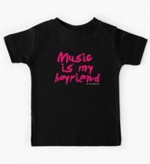 Music Is My Boyfriend Kids Tee