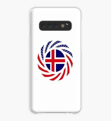 Icelandic American Multinational Patriot Flag Series Case/Skin for Samsung Galaxy