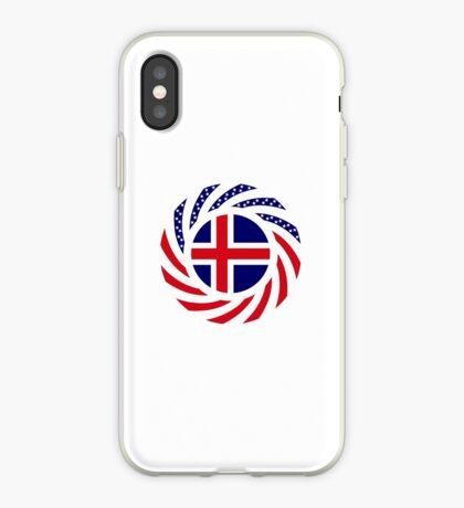 Icelandic American Multinational Patriot Flag Series iPhone Case