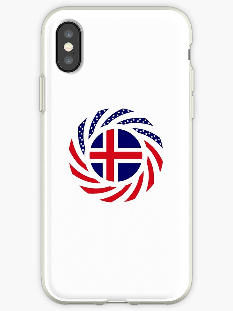 Icelandic American Multinational Patriot Flag Series by Carbon-Fibre Media