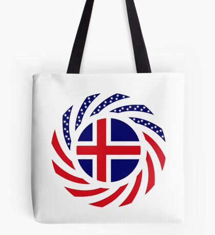Icelandic American Multinational Patriot Flag Series Tote Bag