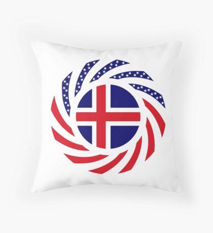 Icelandic American Multinational Patriot Flag Series Throw Pillow