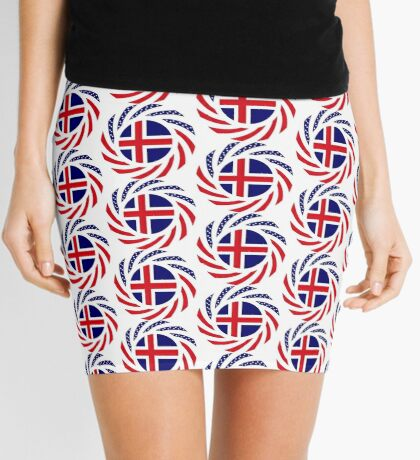 Icelandic American Multinational Patriot Flag Series Mini Skirt