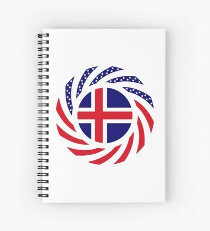 Icelandic American Multinational Patriot Flag Series Spiral Notebook