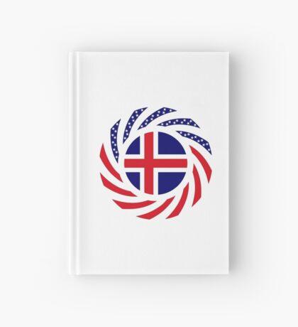 Icelandic American Multinational Patriot Flag Series Hardcover Journal