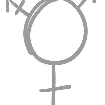 Simple Gray Transgender Symbol by spiderly