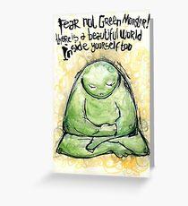 Green Monster Inspirational Message Greeting Card