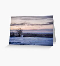 Snowy Prairie Landscape Greeting Card