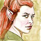 Evangeline Lilly as Tauriel by jos2507