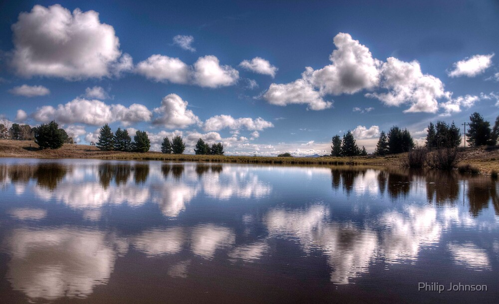 Snowy Mountain Reflections #2- Nimmitabel NSW - The HDR Experience by Philip Johnson