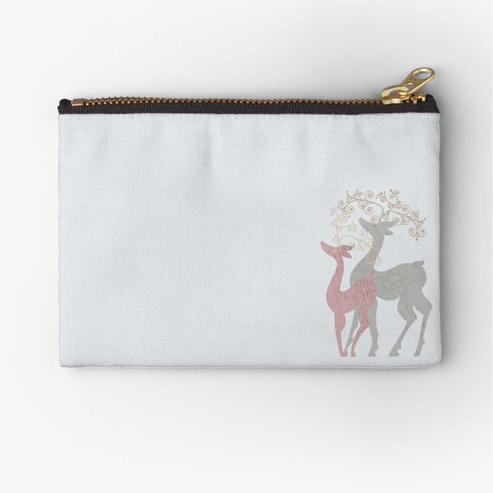 Couple of Deer Zipper Pouch