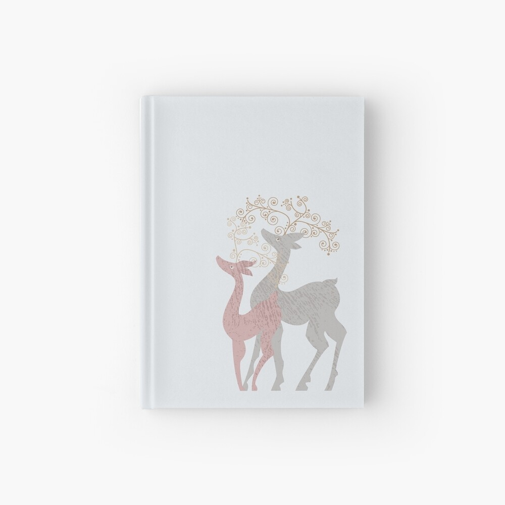 Couple of Deer Hardcover Journal