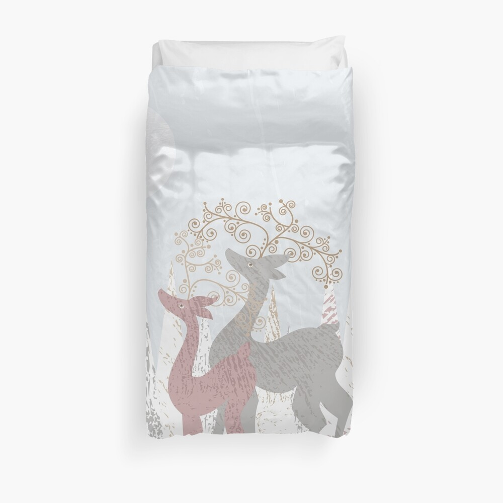 Couple of Deer Duvet Cover