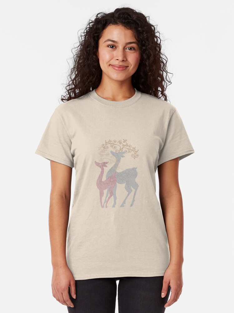 Alternate view of Couple of Deer Classic T-Shirt