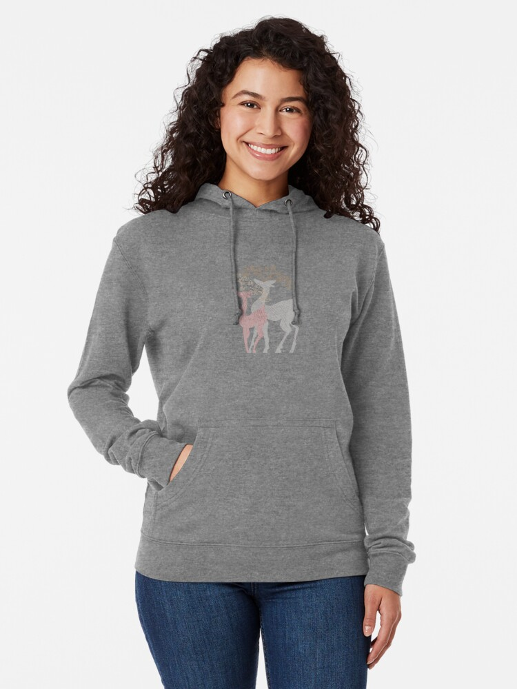 Alternate view of Couple of Deer Lightweight Hoodie