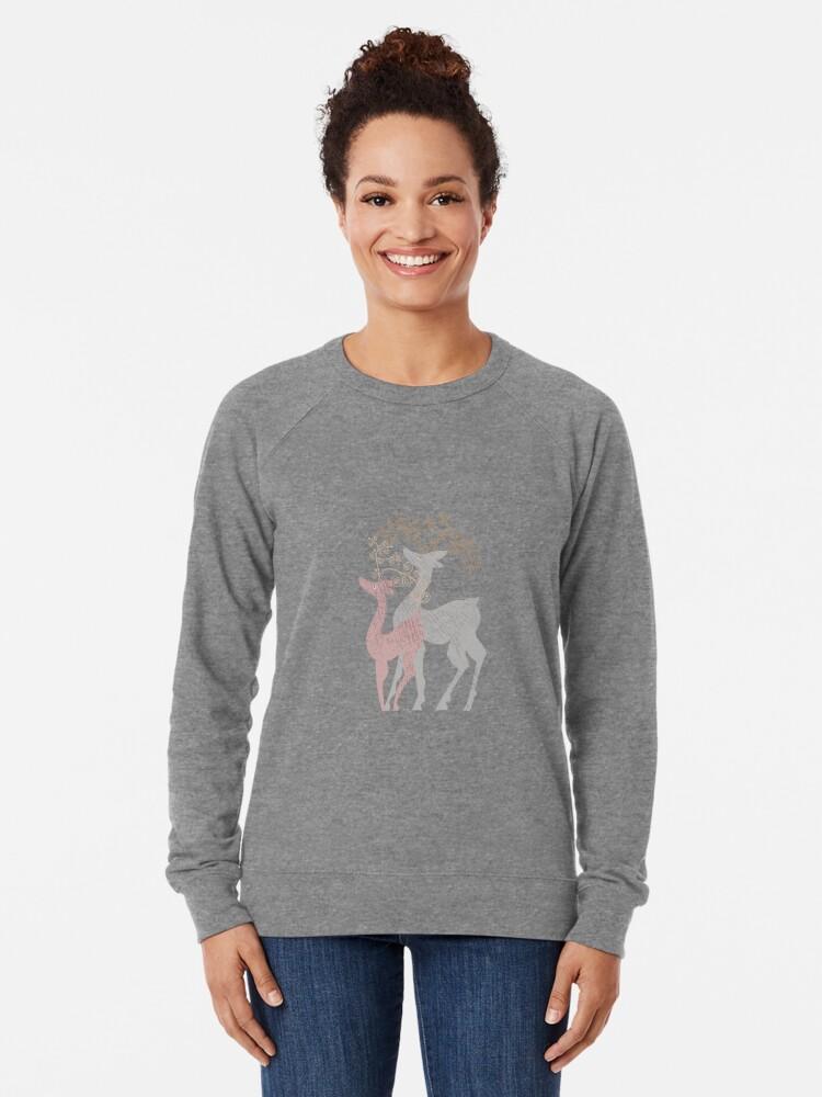 Alternate view of Couple of Deer Lightweight Sweatshirt