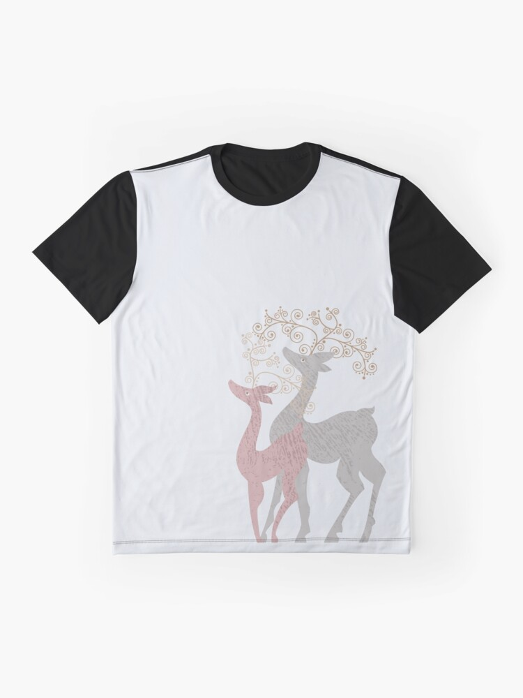 Alternate view of Couple of Deer Graphic T-Shirt