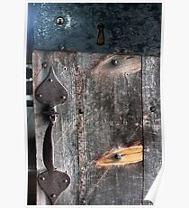 Door Latch and Keyhole Poster