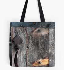 Door Latch and Keyhole Tote Bag