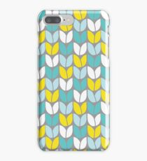 Tulip Knit (Aqua Gray Yellow) iPhone 7 Plus Case