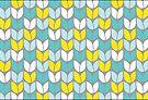 Tulip Knit (Aqua Gray Yellow) by Beth Thompson