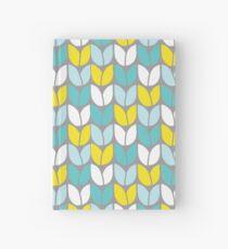 Tulip Knit (Aqua Grau Gelb) Notizbuch