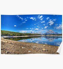 Teton Range Reflection Poster