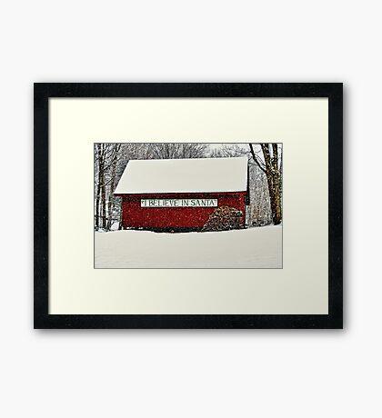 I Believe In Santa Framed Print
