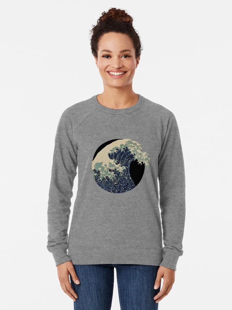 Alternative Ansicht von Die große Welle Leichter Pullover