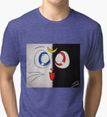 Luna and Artemis Tri-blend T-Shirt