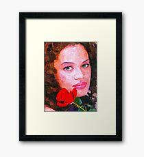 Latin Rose Framed Print