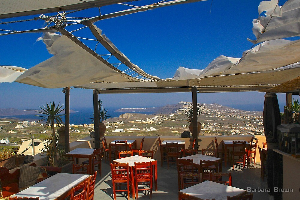 A View from Pyrgos by Barbara  Brown