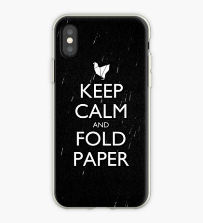 Keep Calm and Fold Paper - Chicken/Rain iPhone Case